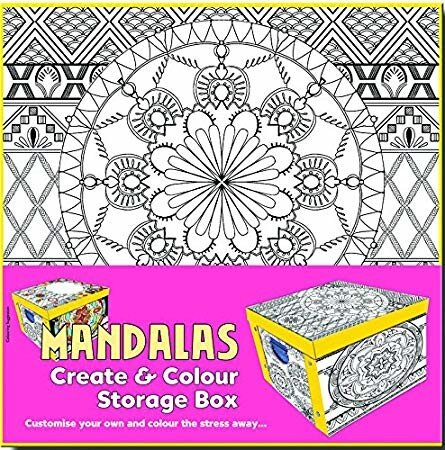 Collapsible Storage Box - Adult Colouring Mandalas