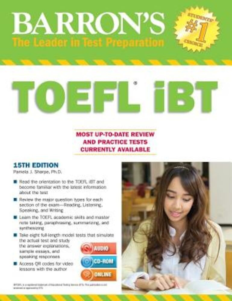 Barron's TOEFL Ibt with Two MP3 CDs and CD-ROM [With CDROM and 2 MP3 CDs], Paperback