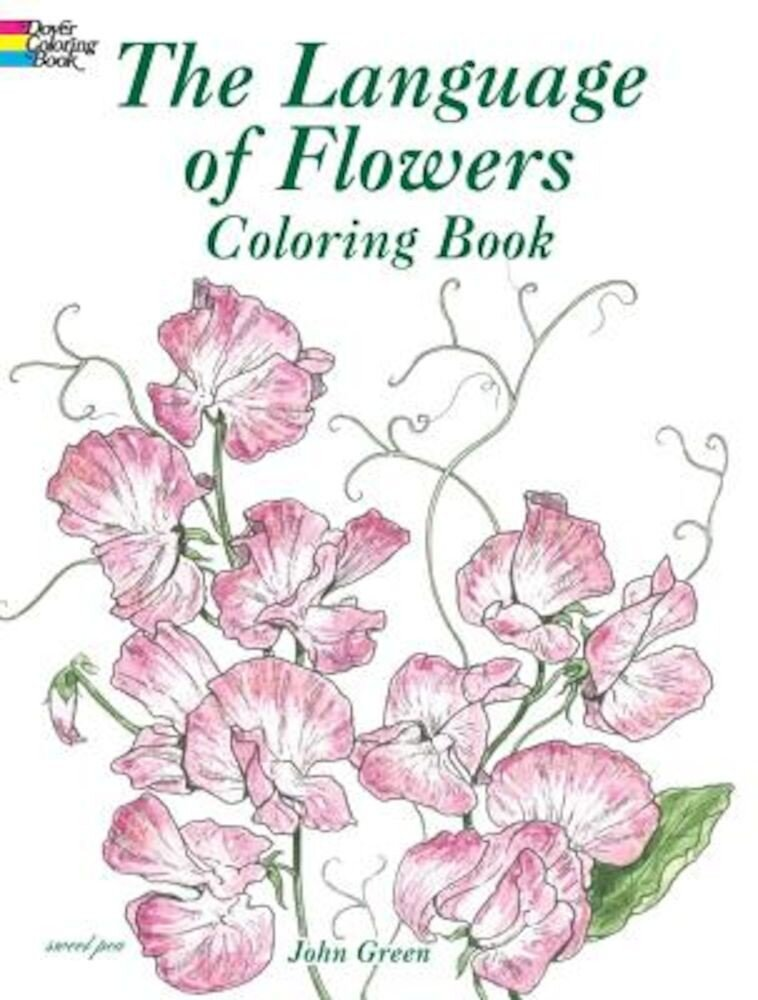 The Language of Flowers Coloring Book, Paperback