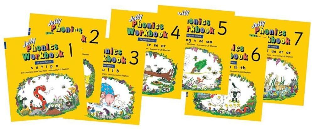Jolly Phonics Workbooks 1-7, Paperback