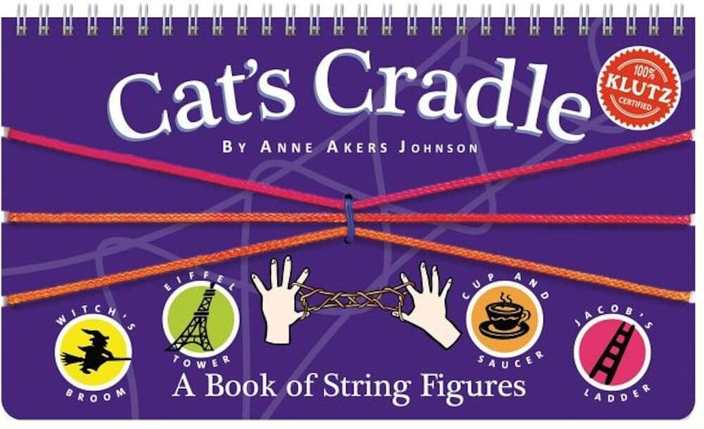 Cat's Cradle: A Book of String Figures [With Three Colored Cords], Hardcover