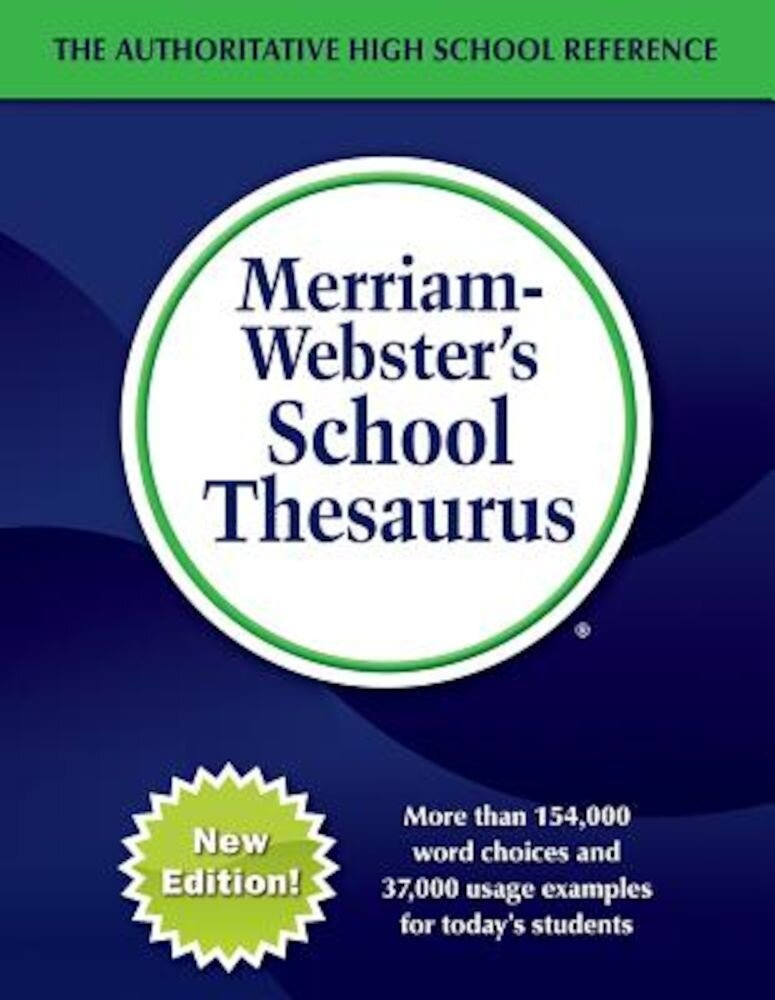 Merriam-Webster's School Thesaurus, Hardcover