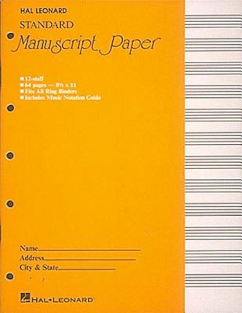 Standard Manuscript Paper ( Yellow Cover), Paperback