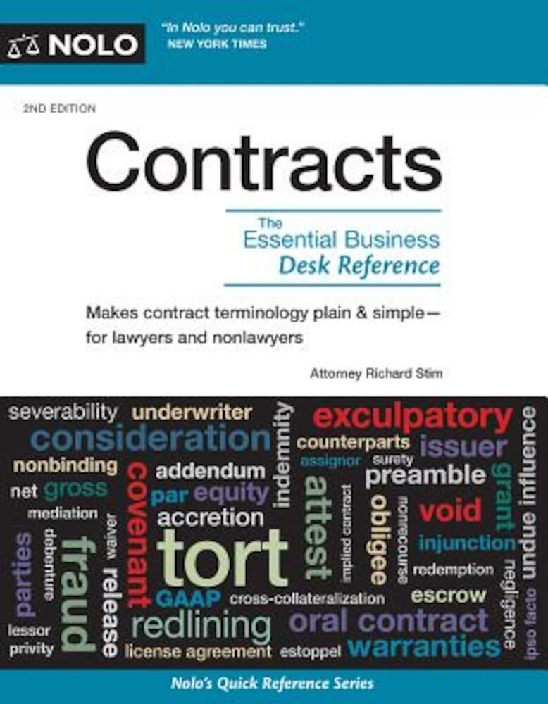 Contracts: The Essential Business Desk Reference, Paperback