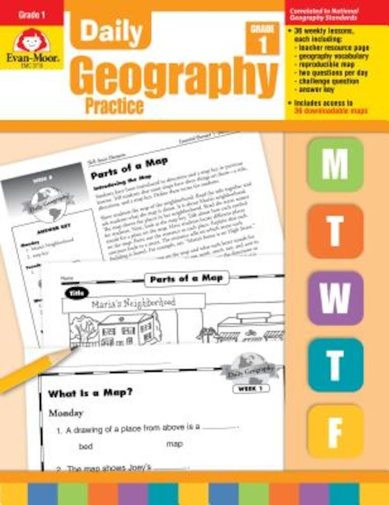 Daily Geography Practice: Grade 1, Paperback
