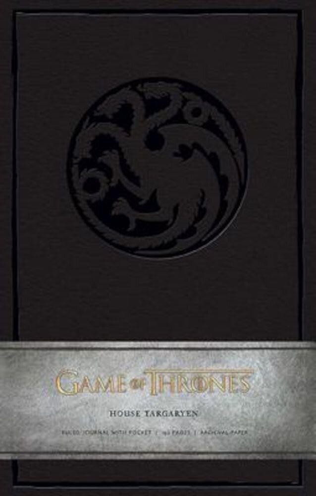 Game of Thrones: House Targaryen Hardcover Ruled Journal
