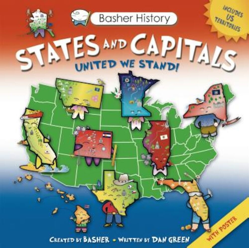 States and Capitals: United We Stand! [With Poster], Paperback