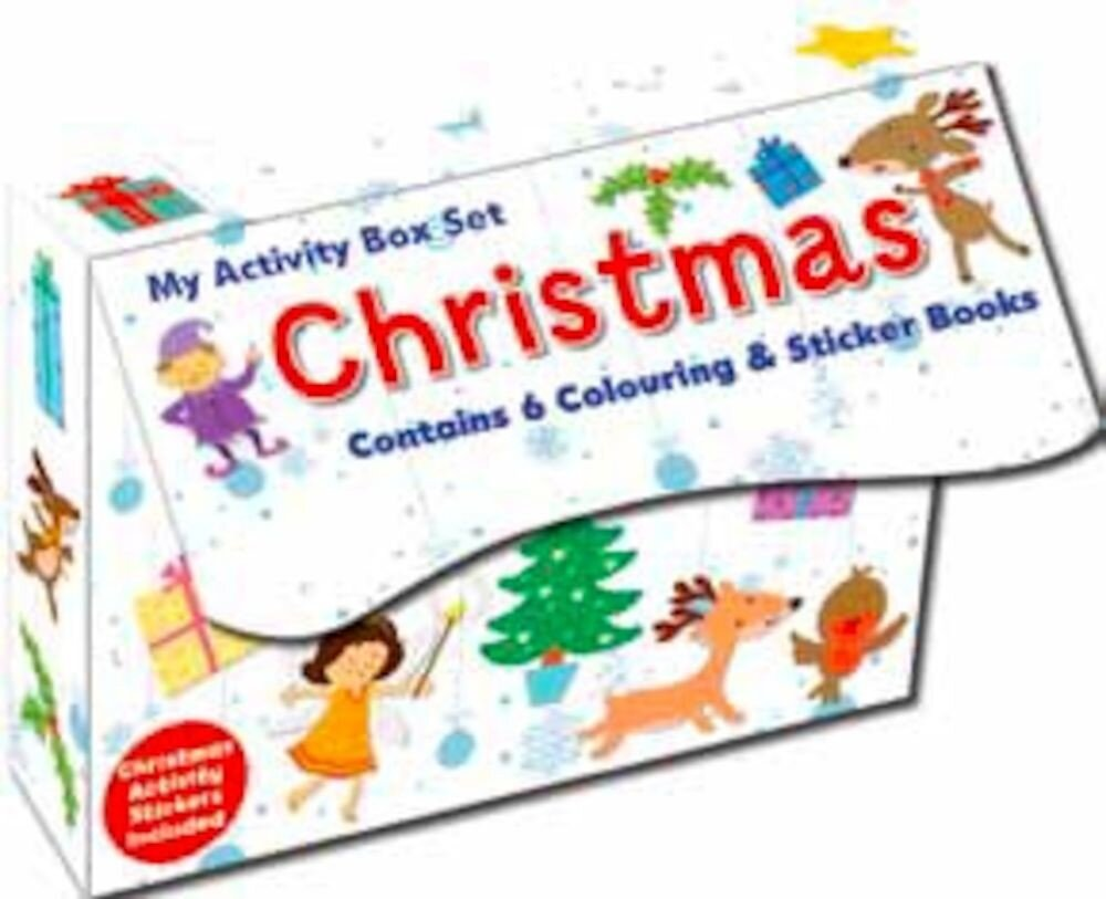 Coperta Carte Magnetic mini sticker book set (6 books) - christmas white (ctn qty 24)