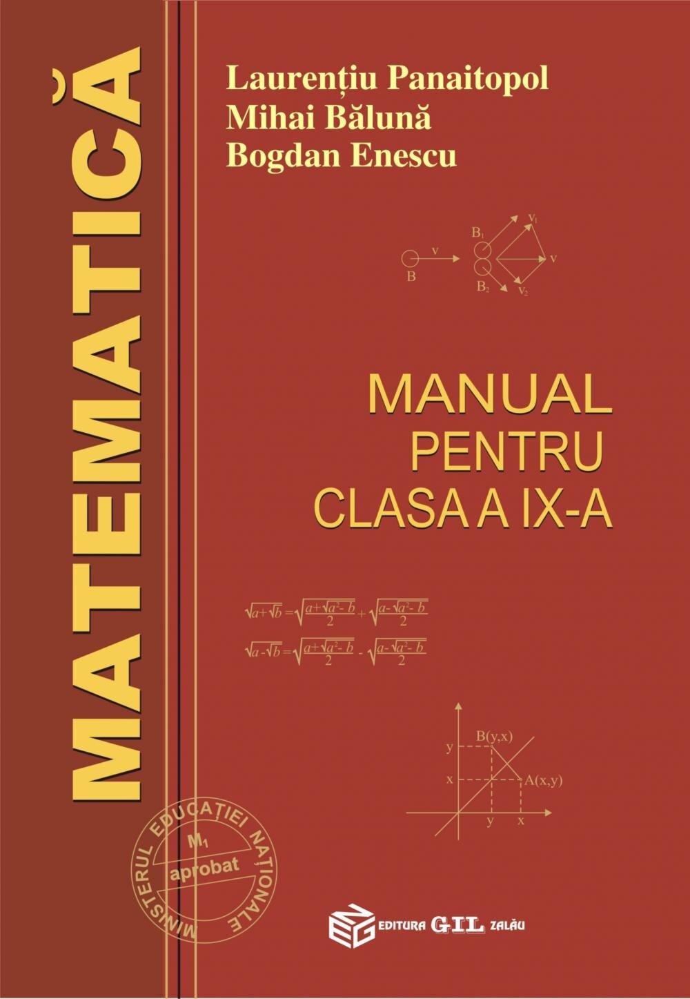 Matematica-manual pentru clasa a IX-a (Panaitopol) (eBook)
