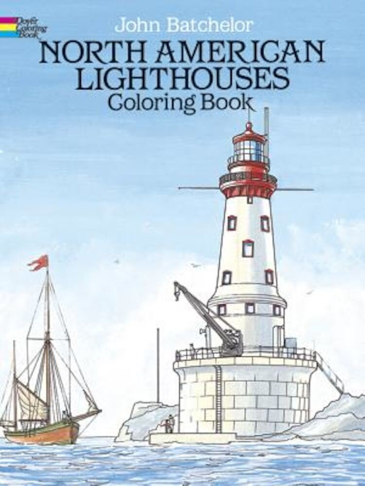 North American Lighthouses Coloring Book, Paperback