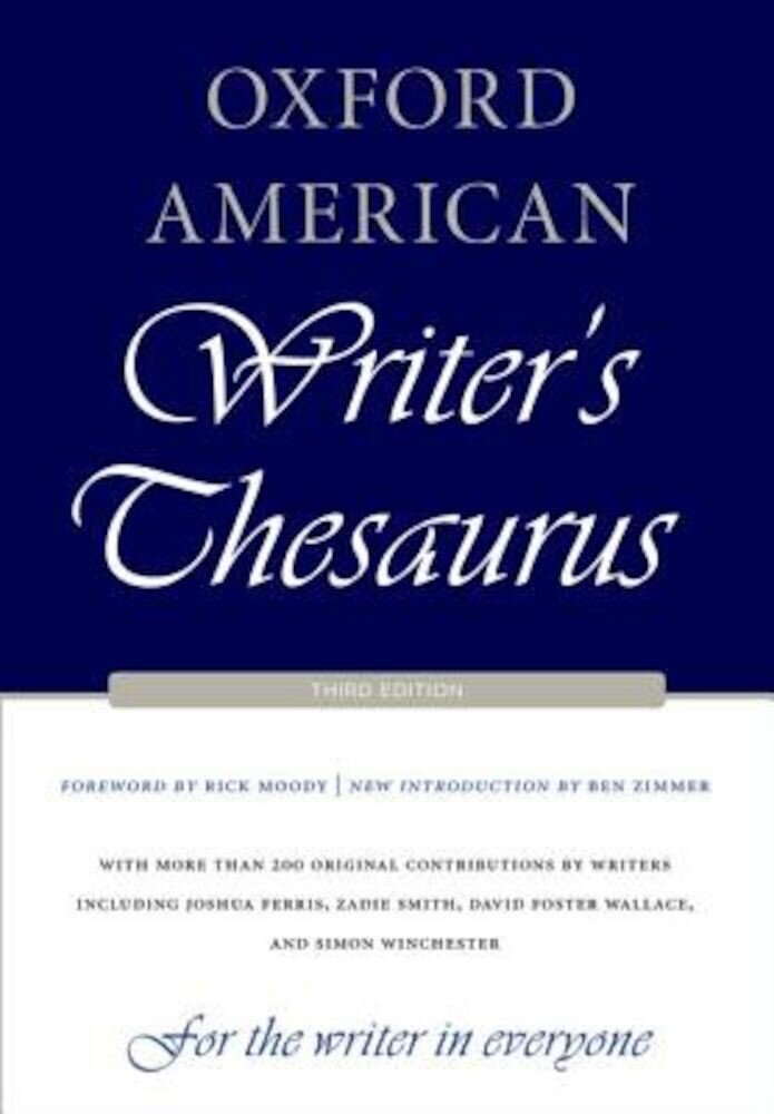 Oxford American Writer's Thesaurus, Hardcover