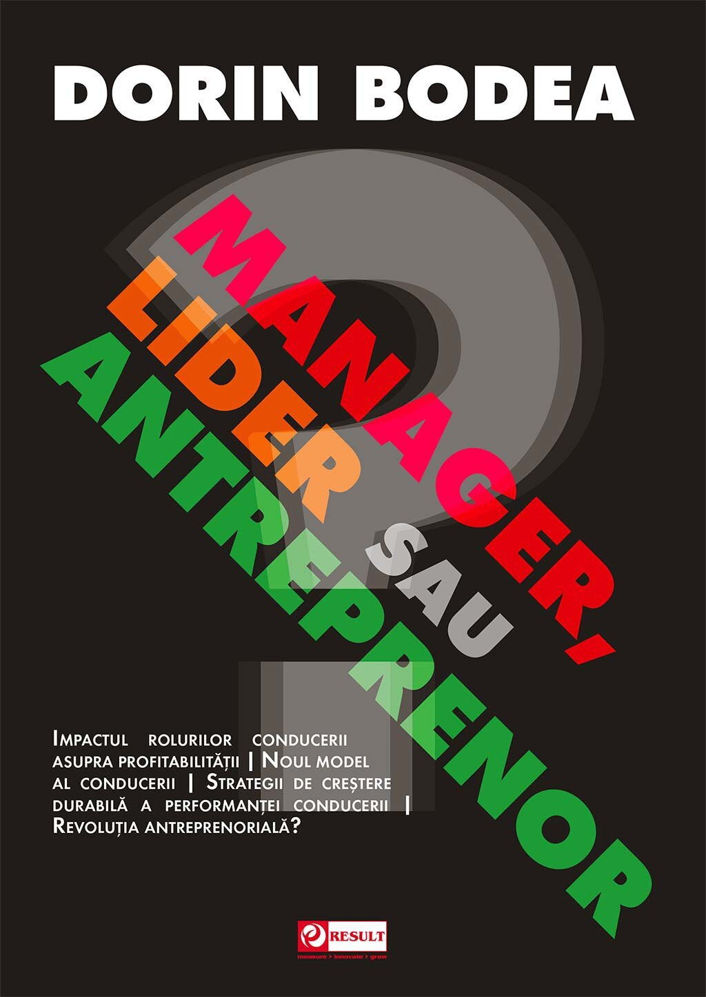 Manager, lider sau antreprenor? (eBook)