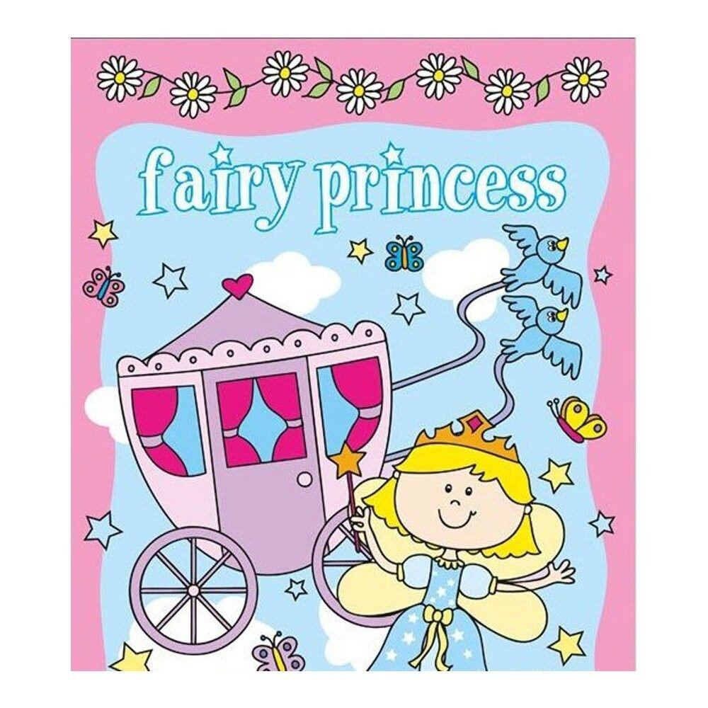 Carte de colorat si stickere - Fairy Princess