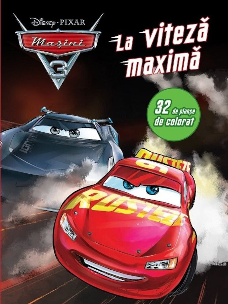 Masini 3. La viteza maxima. 32 de planse de colorat