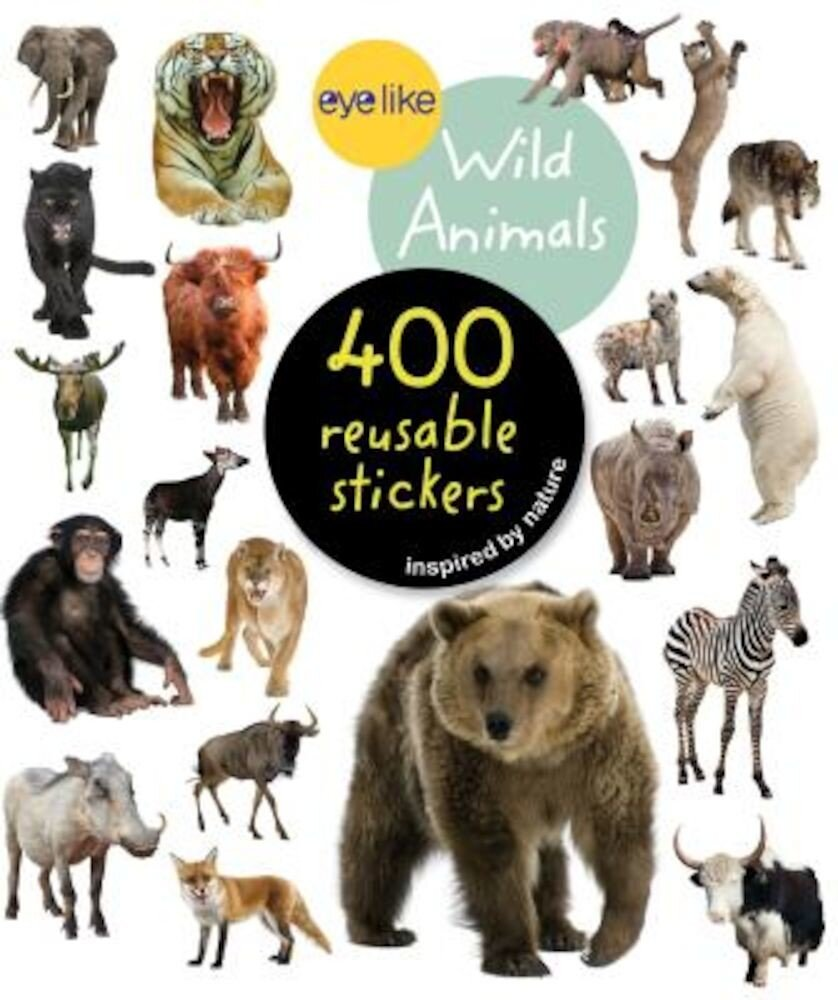 Eyelike Stickers: Wild Animals, Paperback