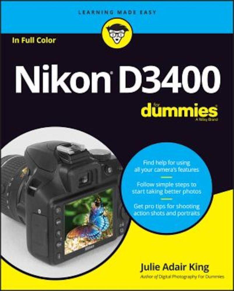 Nikon D3400 for Dummies, Paperback