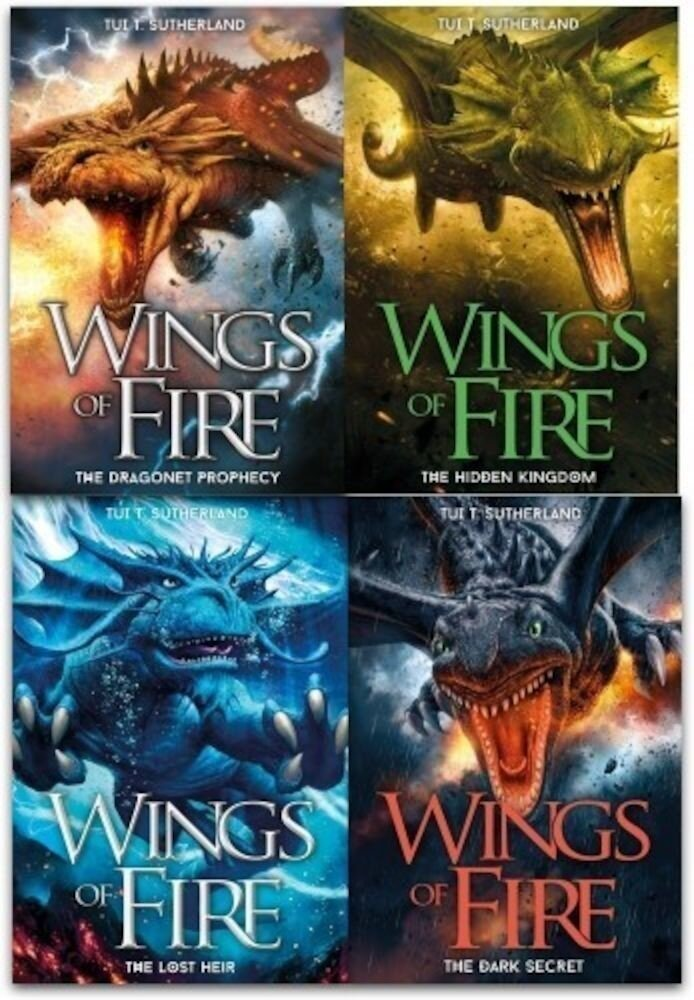 Wings of Fire Collection Tui T. Sutherland 4 Books Set