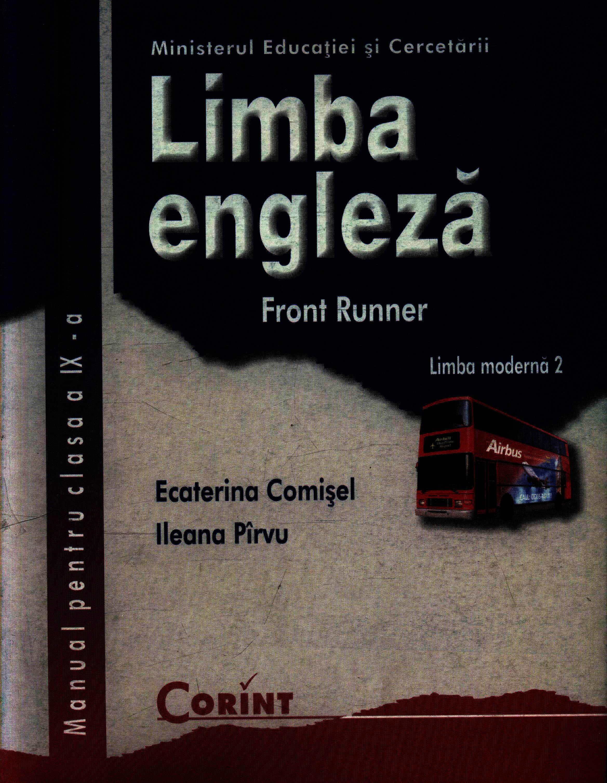 Coperta Carte Limba engleza L2. Front Runner. Manual pentru clasa a IX-a