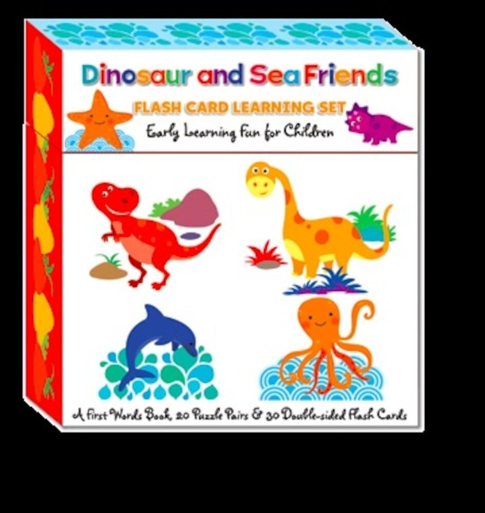 Flash card learning set - dinosaur & friends (ctn qty 12)
