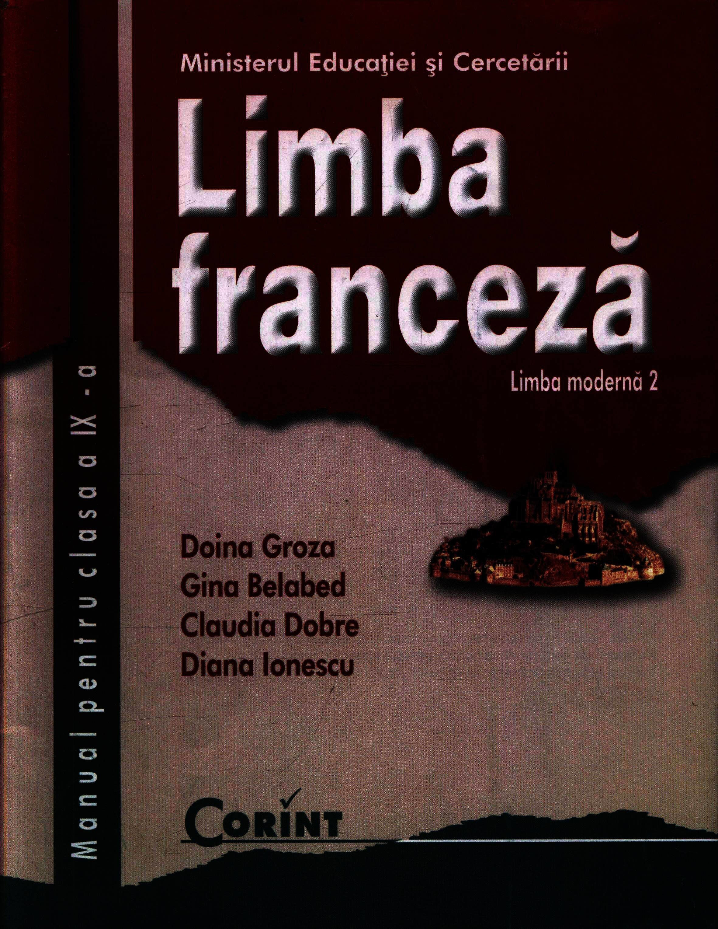 Coperta Carte Limba franceza L2. Manual pentru clasa a IX-a