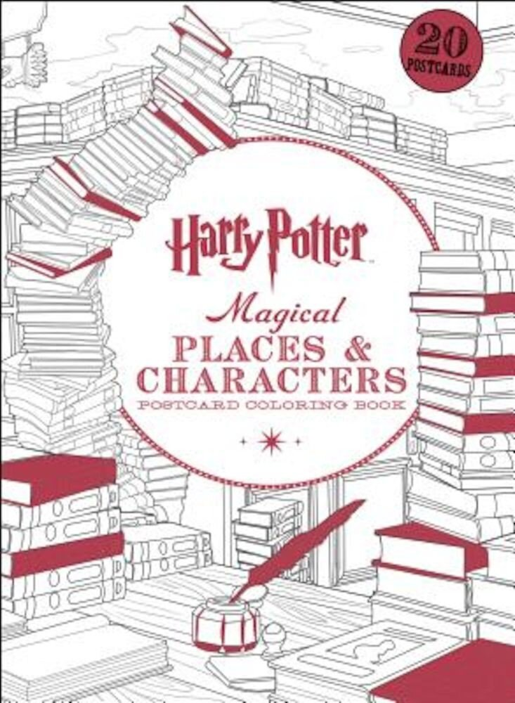 Harry Potter Magical Places & Characters Postcard Coloring Book, Paperback