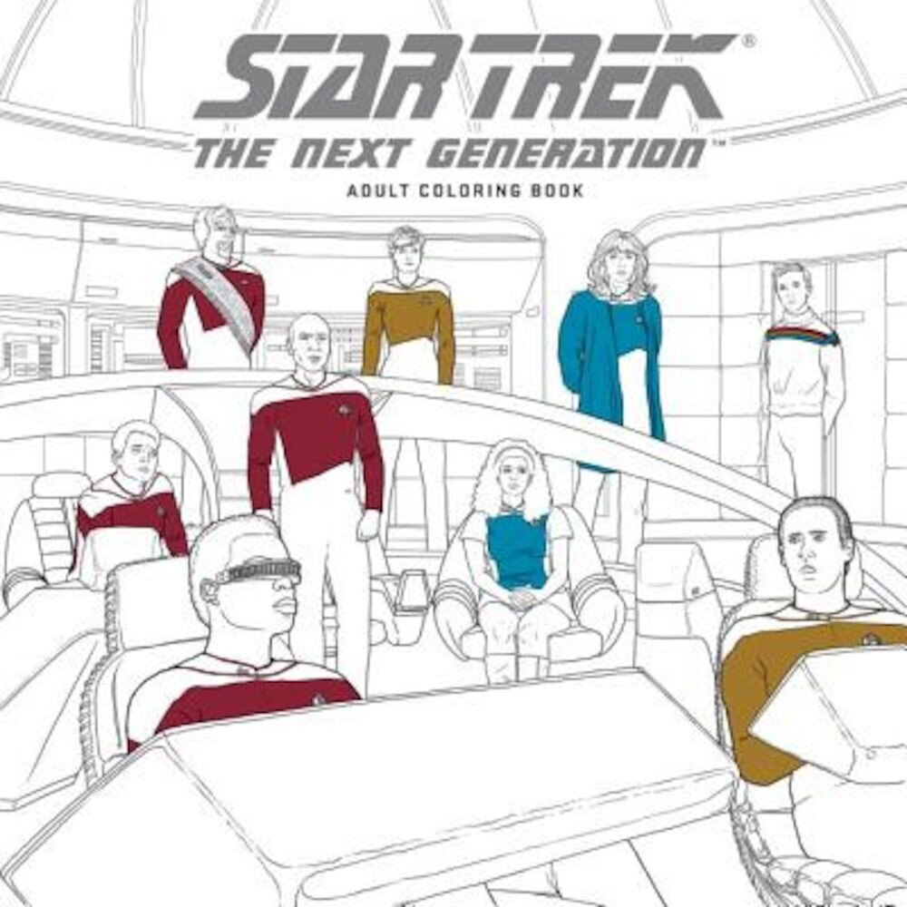 Star Trek: The Next Generation Adult Coloring Book, Paperback