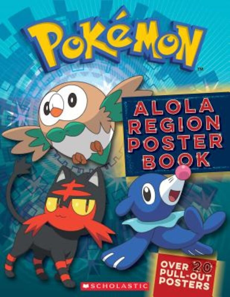 Alola Region Poster Book (Pokemon), Paperback