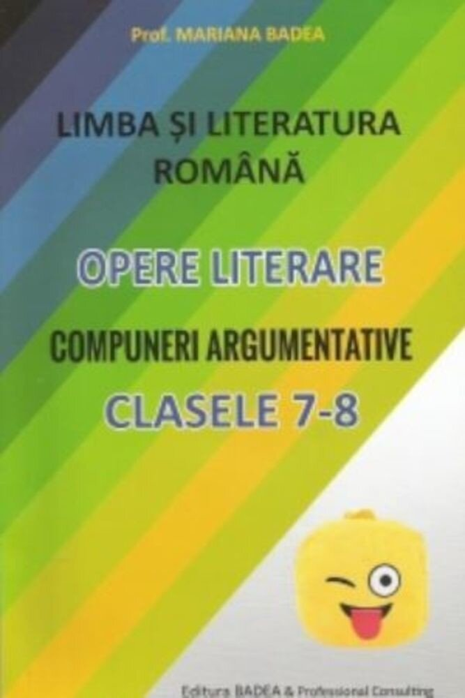 Coperta Carte Compuneri argumentative clasele 7-8