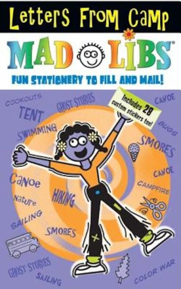 Letters from Camp Mad Libs [With Stickers], Paperback