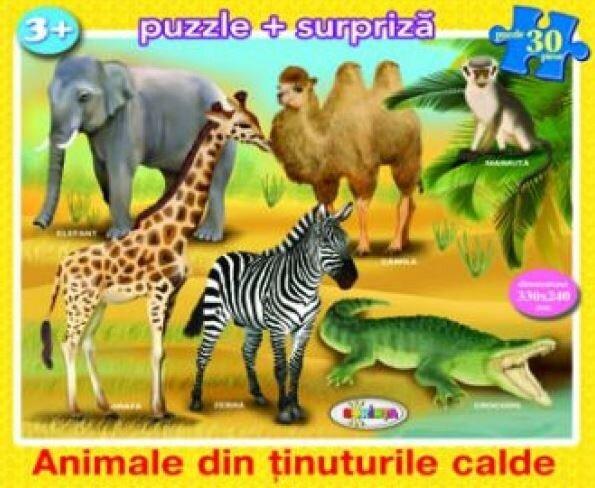 Coperta Carte Puzzle - Animale din tinuturile calde (30 piese)