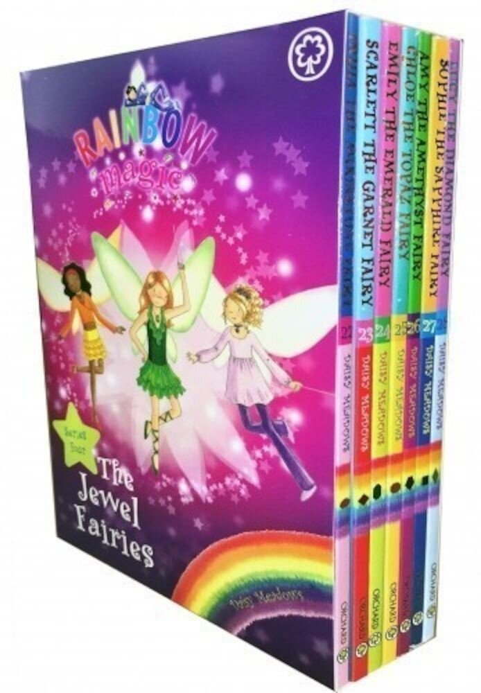 Rainbow Magic Series 4 Jewel Fairies Collection 7 Books Box Set (Book 22-28)