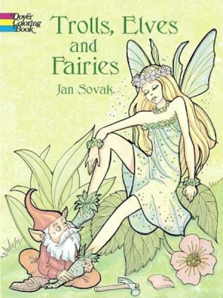 Trolls, Elves and Fairies Coloring Book, Paperback