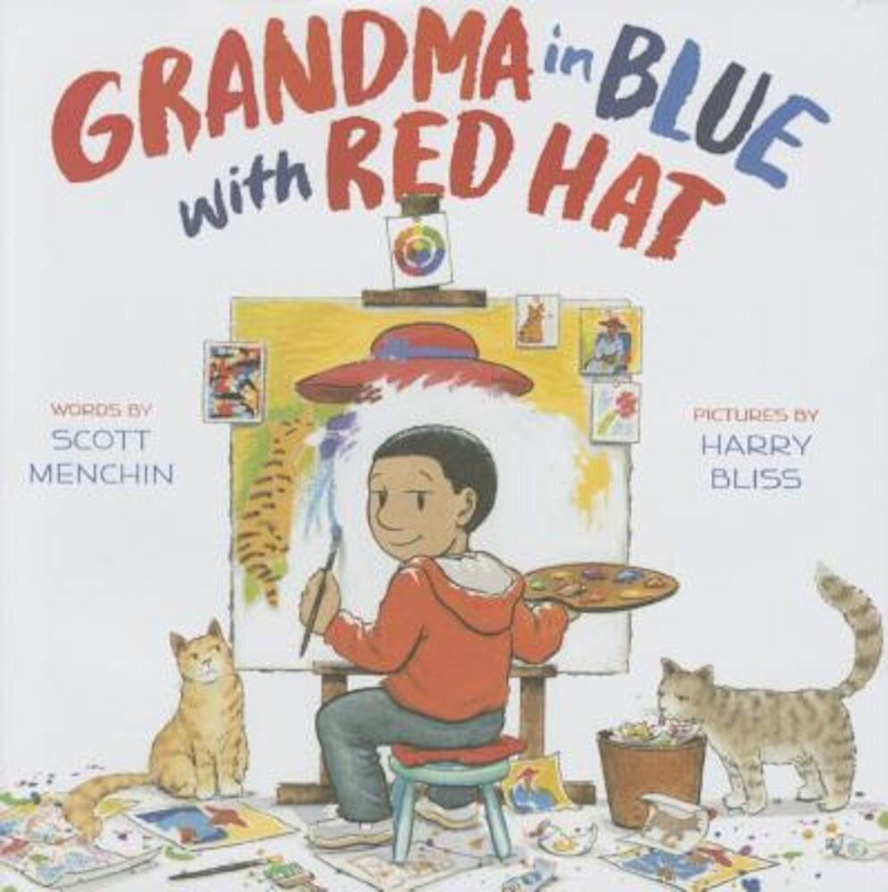Grandma in Blue with Red Hat, Hardcover