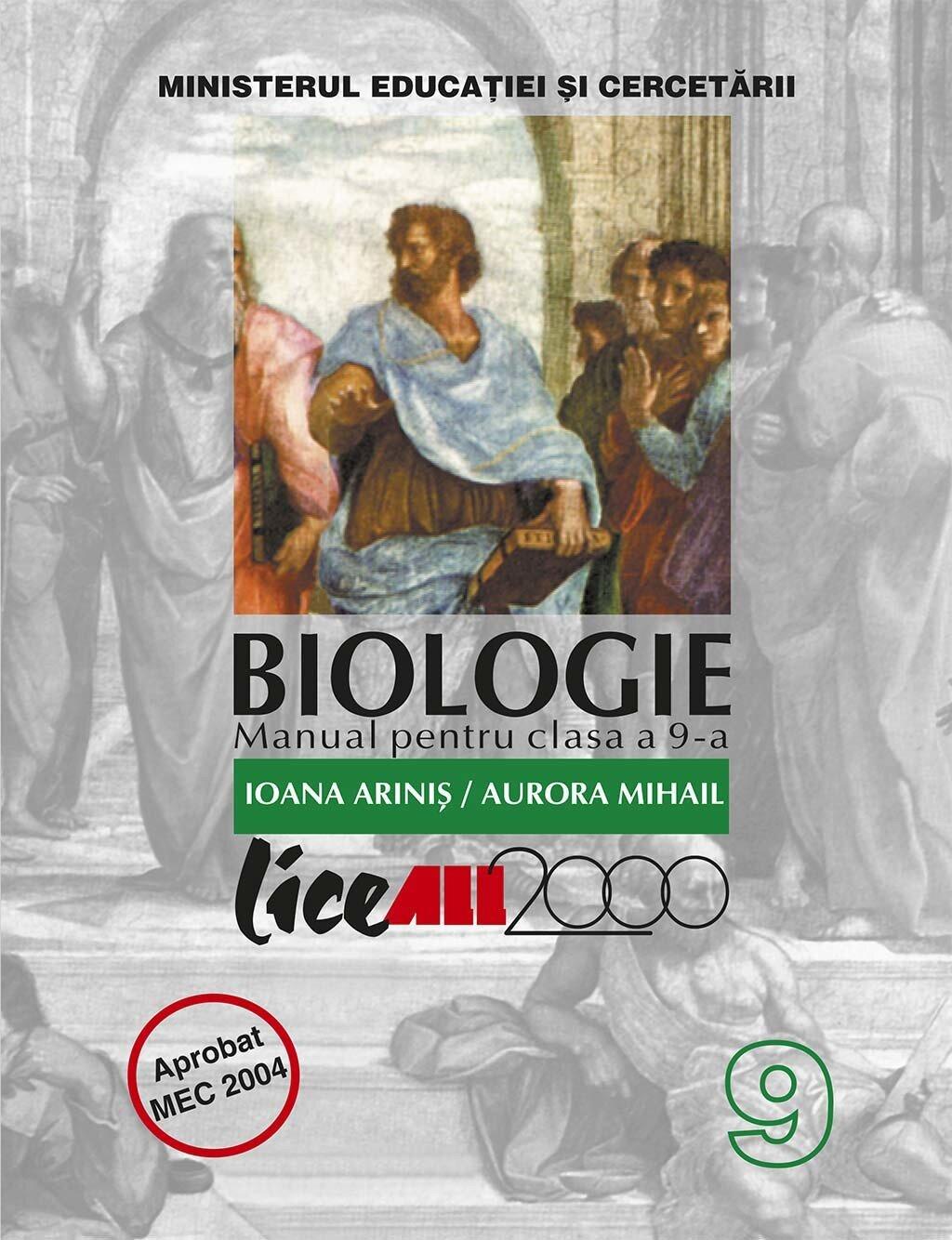 Biologie. Manual pentru clasa a 9-a PDF (Download eBook)
