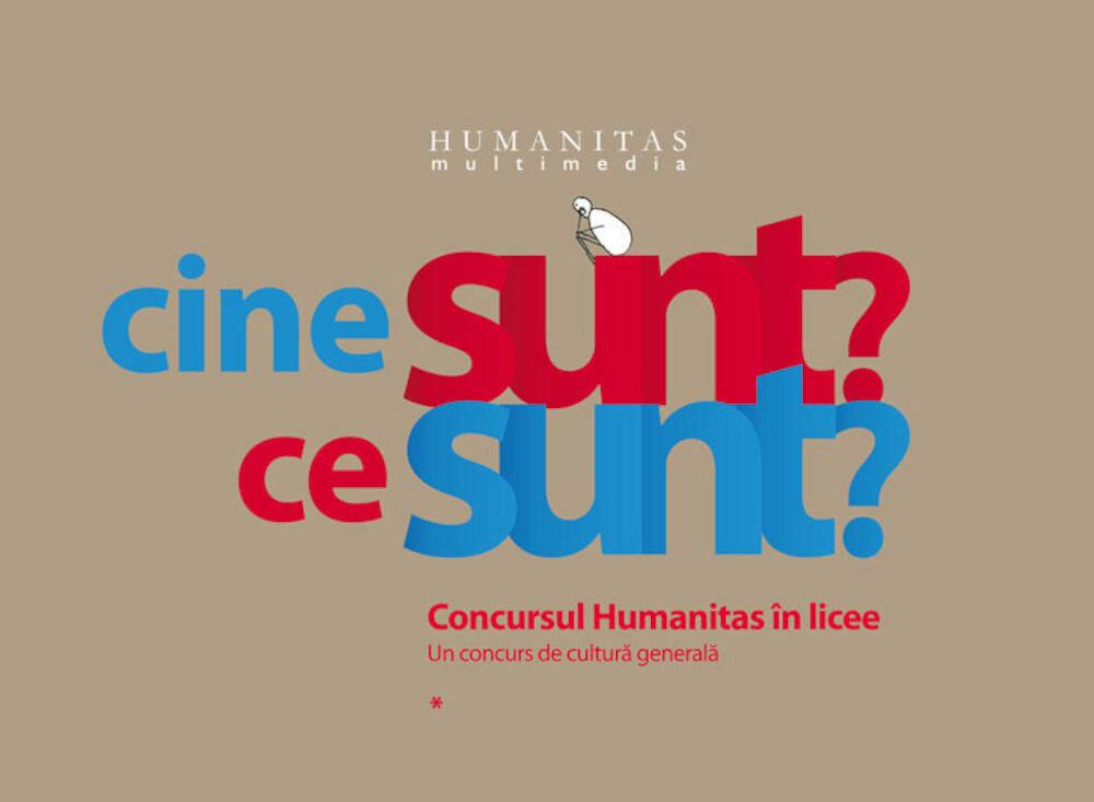 Coperta Carte Cine sunt? Ce sunt? Concursul Humanitas in licee