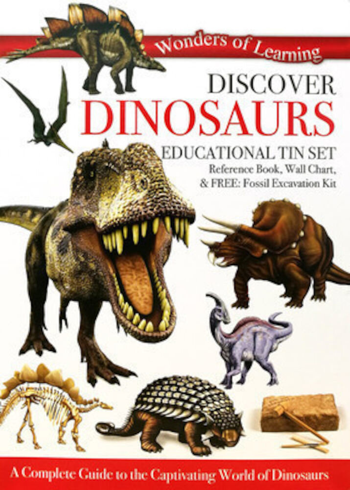 Wonders Of Learning Tin Set - Dinosaurs