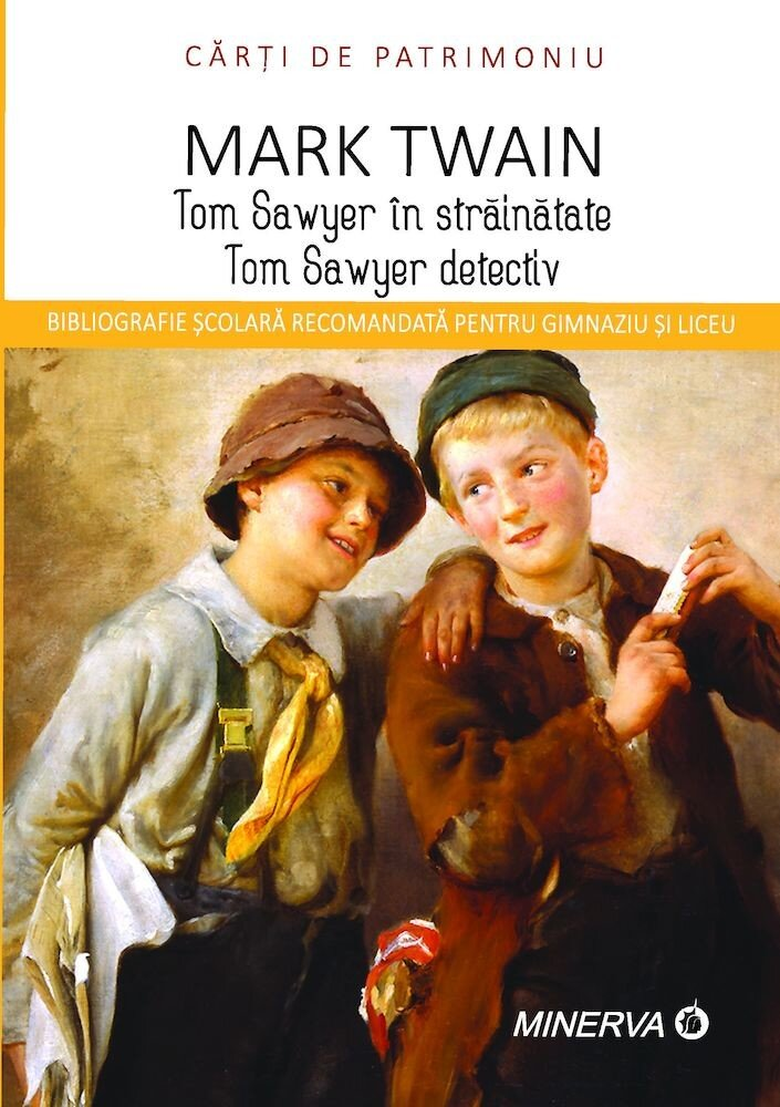 Coperta Carte Tom Saweyer in strainatate/Tom Saweyer detectiv