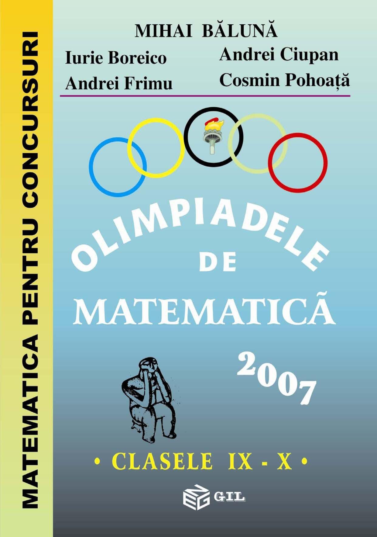 Olimpiade de Matematica IX-X 2007 (eBook)