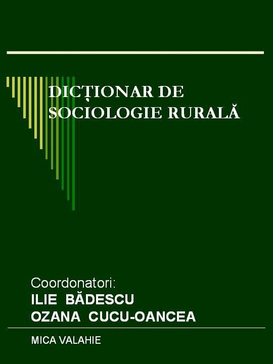 Dictionar de sociologie rurala (eBook)
