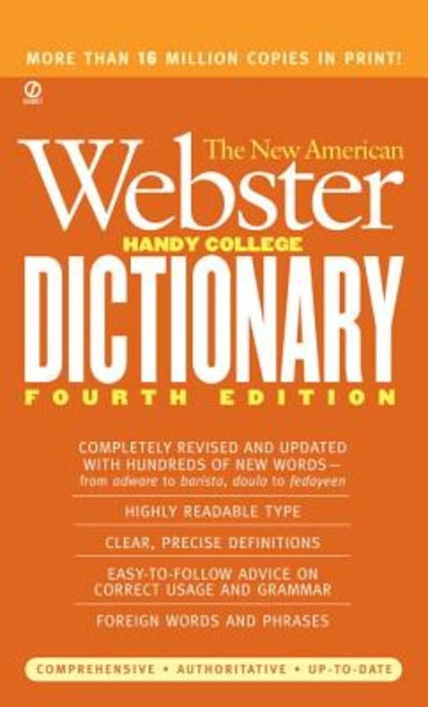 The New American Webster Handy College Dictionary, Paperback