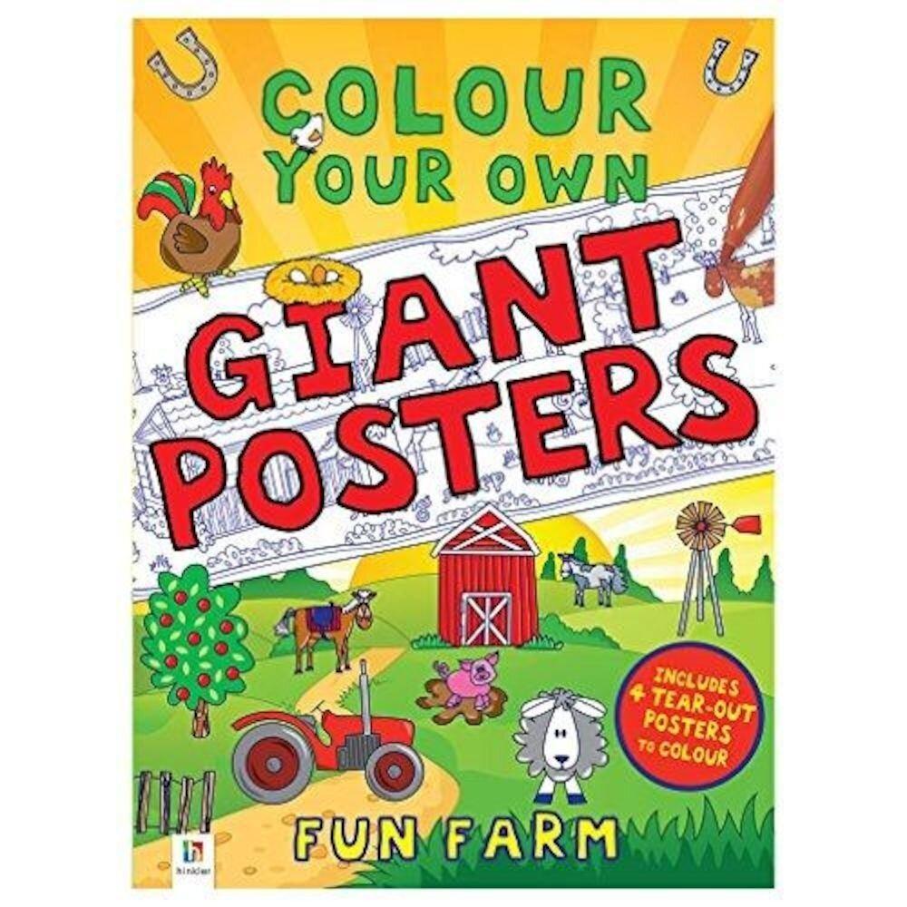 Colour your own Giant Posters: Fun Farm