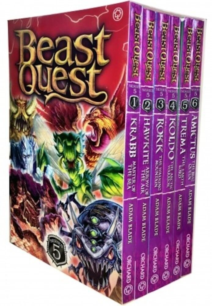 Beast Quest Series 5. The Shade of Death. 6 Books Collection