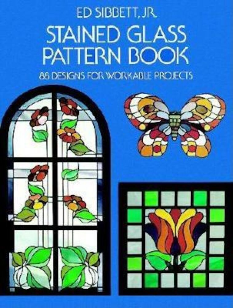 Stained Glass Pattern Book, Paperback
