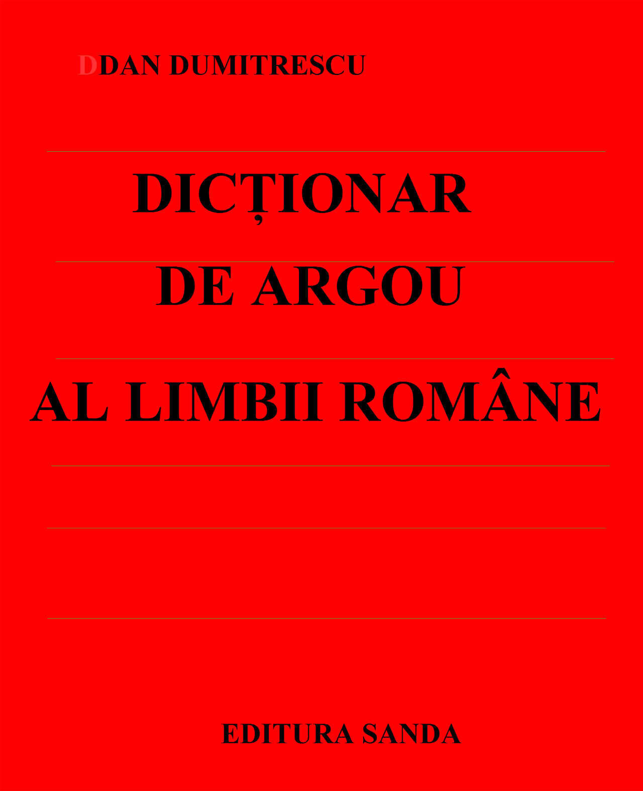 Dictionar de argou al limbii romane (eBook)