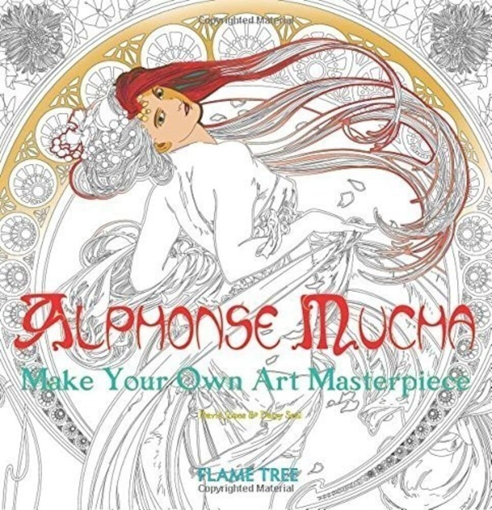 Alphonse Mucha (Art Colouring Book)