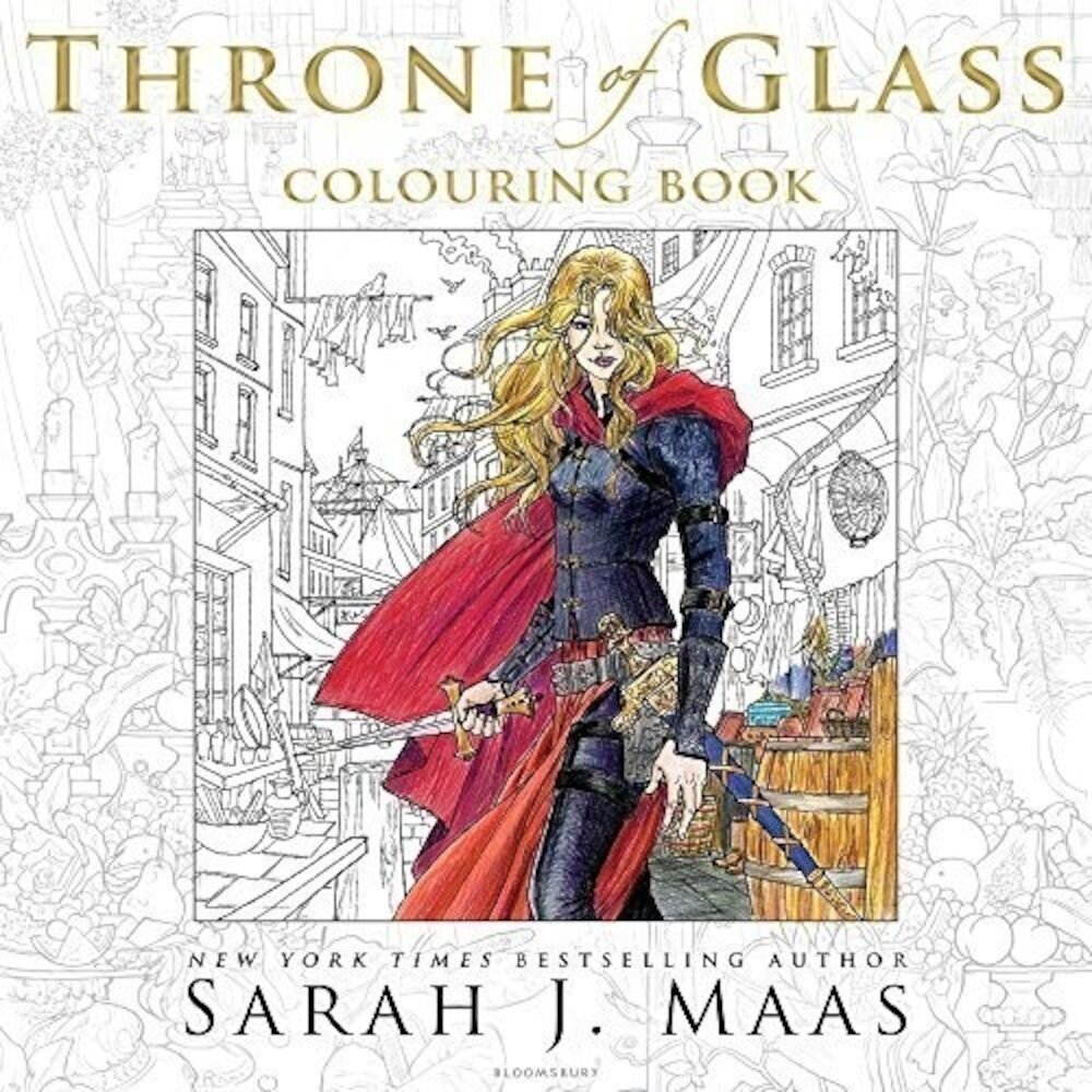 Coperta Carte Throne of Glass Colouring Book, The