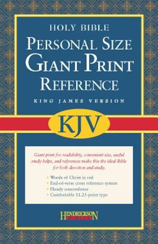 Personal Size Giant Print Reference Bible-KJV, Hardcover