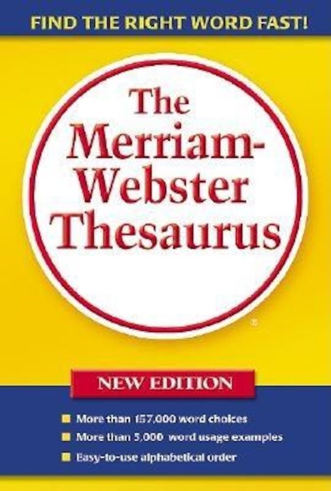 Merriam Webster Thesaurus, Paperback