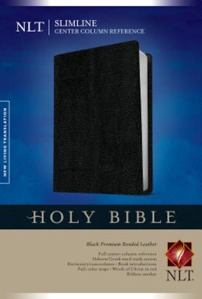 Slimline Center Column Reference Bible-NLT, Hardcover