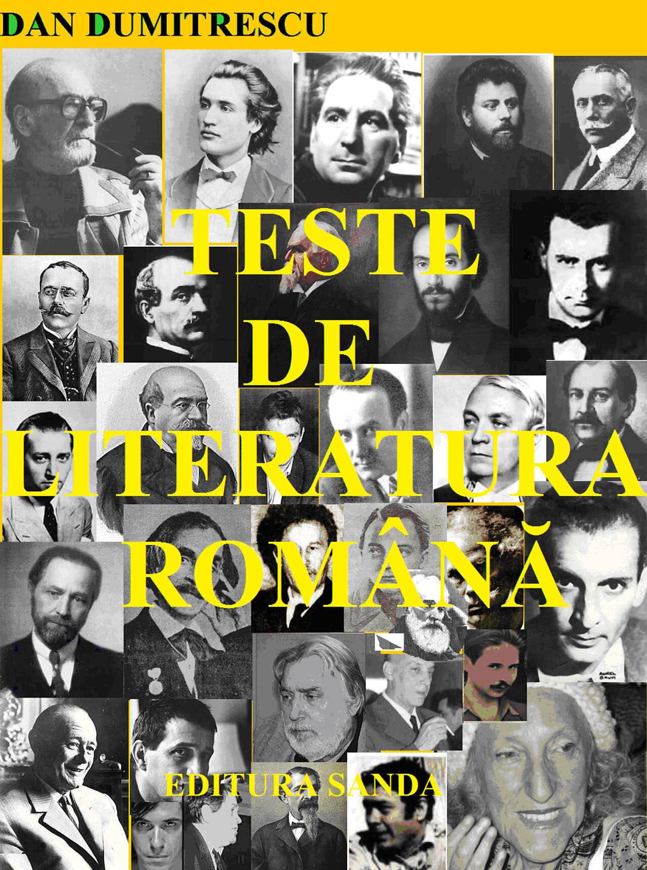 Teste de literatura romana (eBook)
